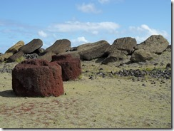 So many toppled, unrestored moai