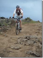 Dave and Olly mountain biking