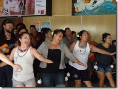 Impromtu show at Easter Island Airport
