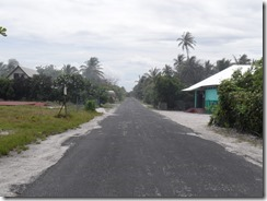 Main and only road in Rangiroa