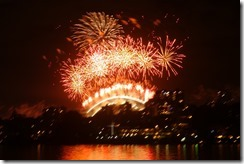 Fireworks on Harbour Bridge