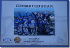 Proof of Dave's Bridge climb