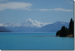 Mount Cook from the bottom of Lake Pukaki