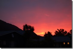 Sunset at Franz Josef - a good sign for tomorrow?