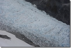 Glacier from above with amazimg ice configuration