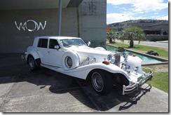 Big fancy white car