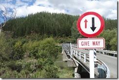 Yet another one way bridge