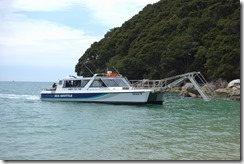Sea shuttle coming to collect us