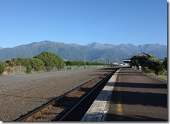 View from Kaikoura railway station