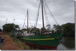 Boat on the river at Kaiapoi