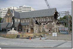 Christchurch Cathedral in bad shape