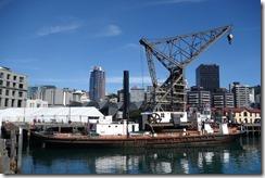 Floating crane in Wellington harbour