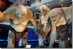 Trolls from The Hobbit at Te Papa museum