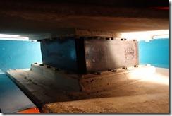 Earthquake damper in foundations of Te Papa museum