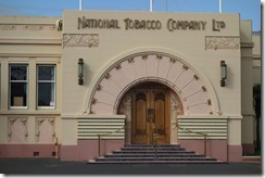 Beautiful Art Deco facades on the buildings