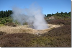 Steam gushing from the Craters of the Moon