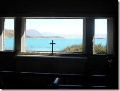 View from pew in church