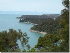 View back over the coastline