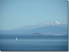 Lake Taupo and Mt Ruapehu