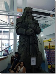 Lord of the Rings figure at Auckland Airport