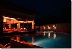 Pool and restaurant at Pelangi Bali Hotel