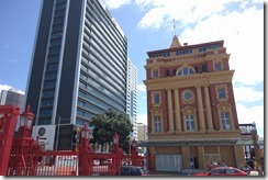 The old and the new down by Auckland harbour