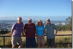 With Dan and Naell on top of Mount Eden