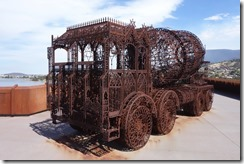 Cement mixer - made from iron railings!