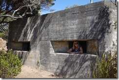 Old WW2 pillbox - and some random woman!