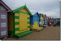 Iconic beach huts at Brighton beach