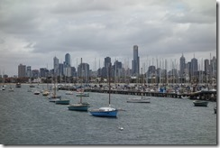 Masts and Melbourne skyline