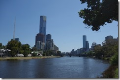 Looking down the Yarra River towards the city
