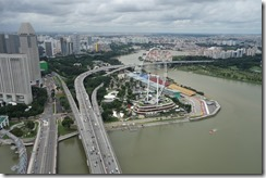 The F1 track goes around the bend of the river