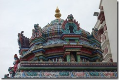 Impressive decoration on roof of Sri Mariamman Temple