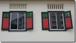 Shutters on a house in Little India