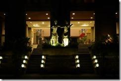 Pelangi Bali Hotel entrance at night