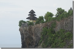 Temple right on the cliff edge
