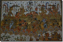Typical Balinese style painting