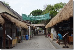 Main street in Gili T - complete with Irish Bar