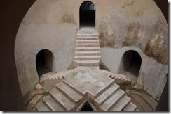 Underground mosque with five stairways