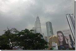 First glimpse of Petronas towers