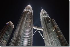 Brightly lit towers