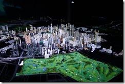 Illuminated model of Kuala Lumpur