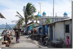 Street along the shore