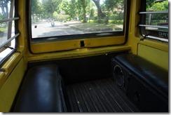 Bench seats, but no passengers
