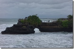 Rocky promontory with another temple - and great views back at Tanah Lot