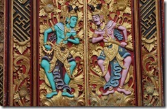 Impressive carving on temple door
