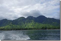 Looking back at Bali's north coast