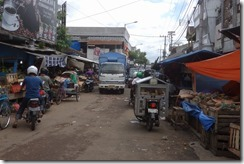 Typical narrow town side street