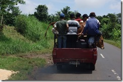 Its like the old 4 elephants in a mini joke - how do you get 9 men and a cow in the back of a small pick up truck?